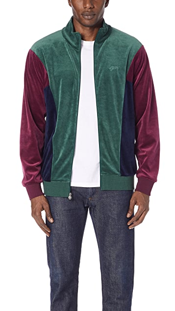 Stussy Velour Paneled Track Jacket