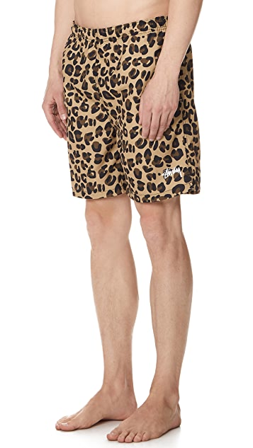 Stussy Leopard Swim Trunks