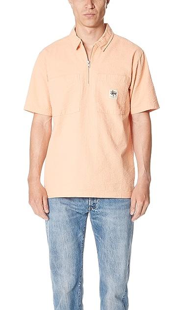 Stussy Half Zip Seersucker Shirt