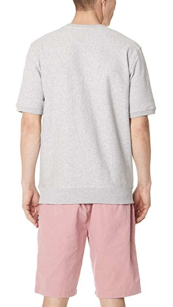 Stussy Stock Short Sleeve Terry Crew Sweatshirt
