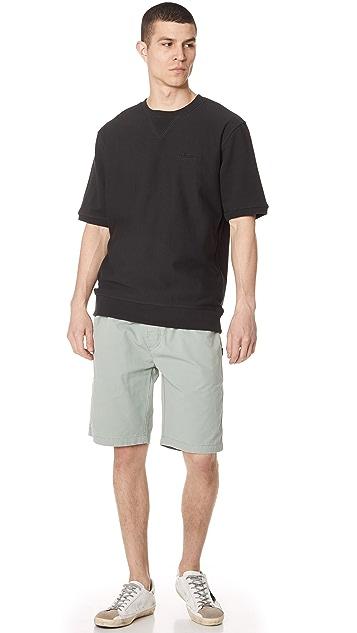 Stussy Stock Short Sleeve Tree Crew Sweatshirt