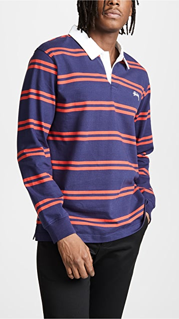 be5f1ac9915 Stussy Desmond Rugby Shirt | EAST DANE