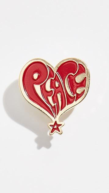 Stussy Peace Pin