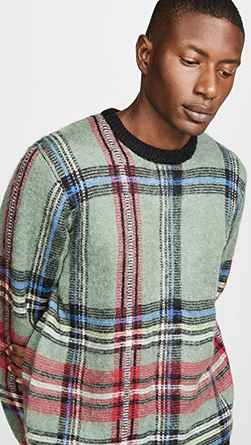 Stussy Plaid Mohair Sweater