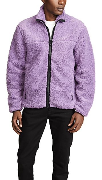 Stussy Sherpa Mock Neck Zip Jacket