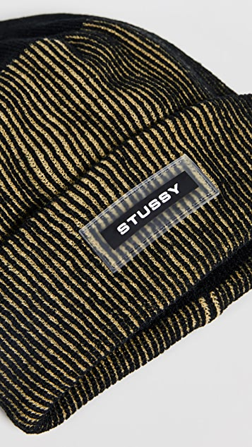 Stussy Rubber Patch Two Tone Beanie