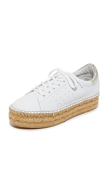 White/Gold Steven Pace Espadrille Platform Sneakers