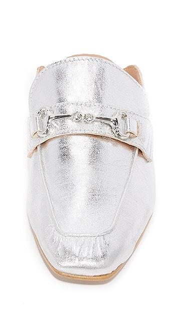 Steven Металлизированные туфли без задников Razzi