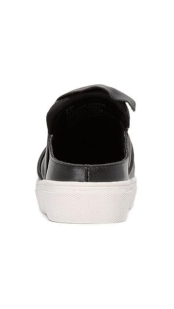 Steven Cal Leather Slip On Sneakers