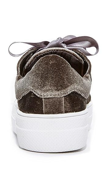 Steven Gator Velvet Sneakers
