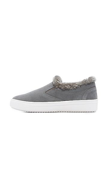 Steven Cuddles Faux Fur Sneakers