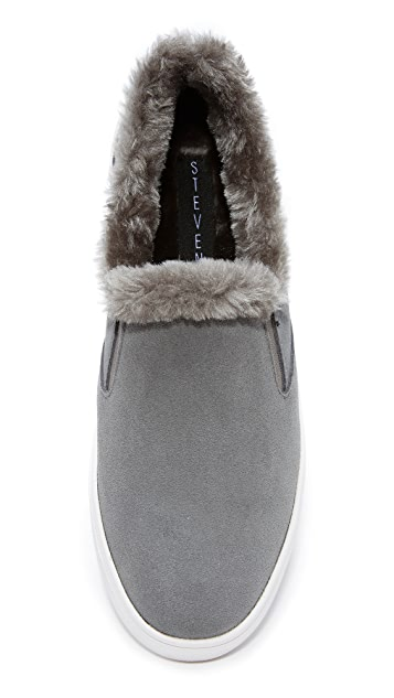 Steven Cuddles Faux Fur Sneakers