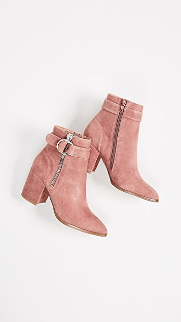 Steven Block Heel Ankle Boots