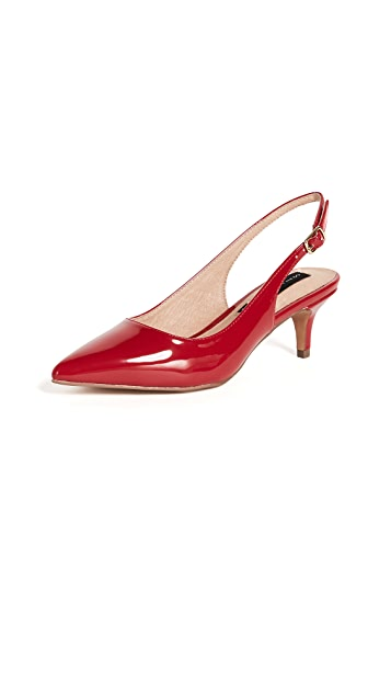 Steven Edyth Point Toe Slingback Pumps