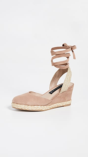 Steven Charly Wedge Espadrilles - Nude