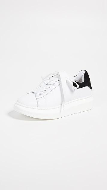 Steven Глянцевые кроссовки на шнуровке