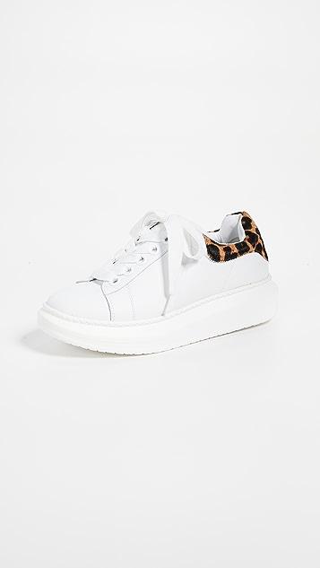 Steven Glazed Lace Up Sneakers