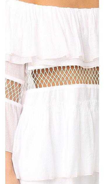 Suboo Closer Frill Off Shoulder Cover Up Dress
