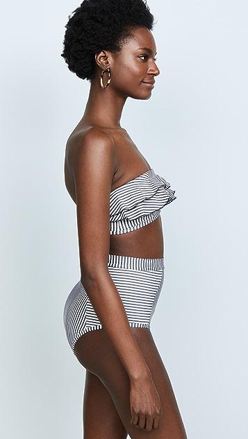 Suboo Ziggy Frill Bandeau Bikini Top