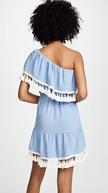 Suboo Playa One Shoulder Frill Dress