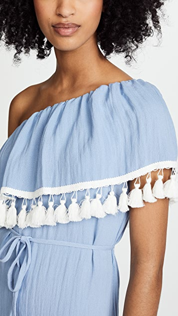 Suboo Playa One Shoulder Frill Dress
