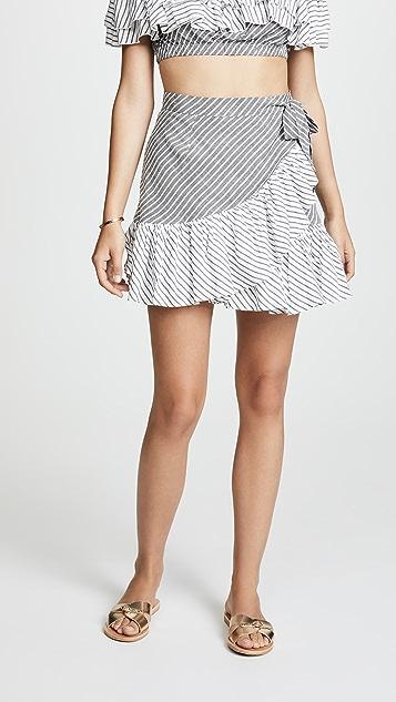 Suboo Ziggy Frill Mini Skirt - Stripe