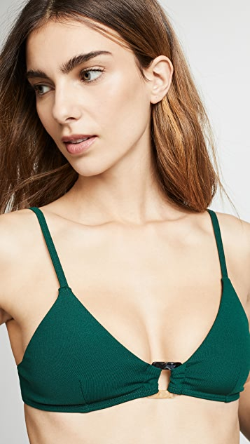 Suboo Jungalow Ring Front Bralette Bikini Top