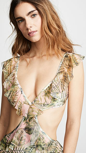 Suboo Palma Ruffled Cutout One Piece Swimsuit