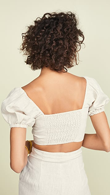 Suboo Wanderer Button Front Crop Top