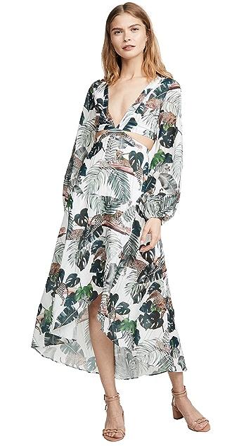 Suboo Платье Xenia с объемными рукавами и вырезами