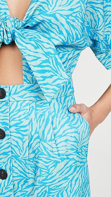 Suboo Мини-платье с завязками спереди Maggie