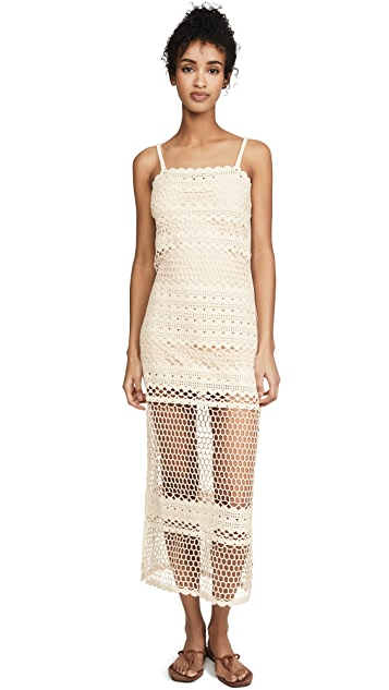 Suboo Stella Crochet Maxi Dress