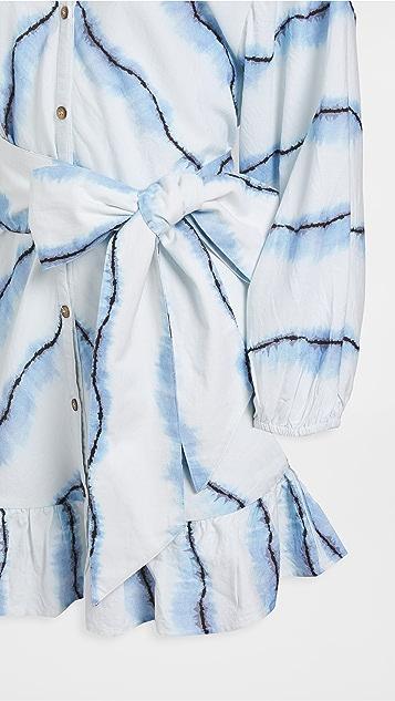 Suboo Estelle Button Balloon Sleeve Mini Dress
