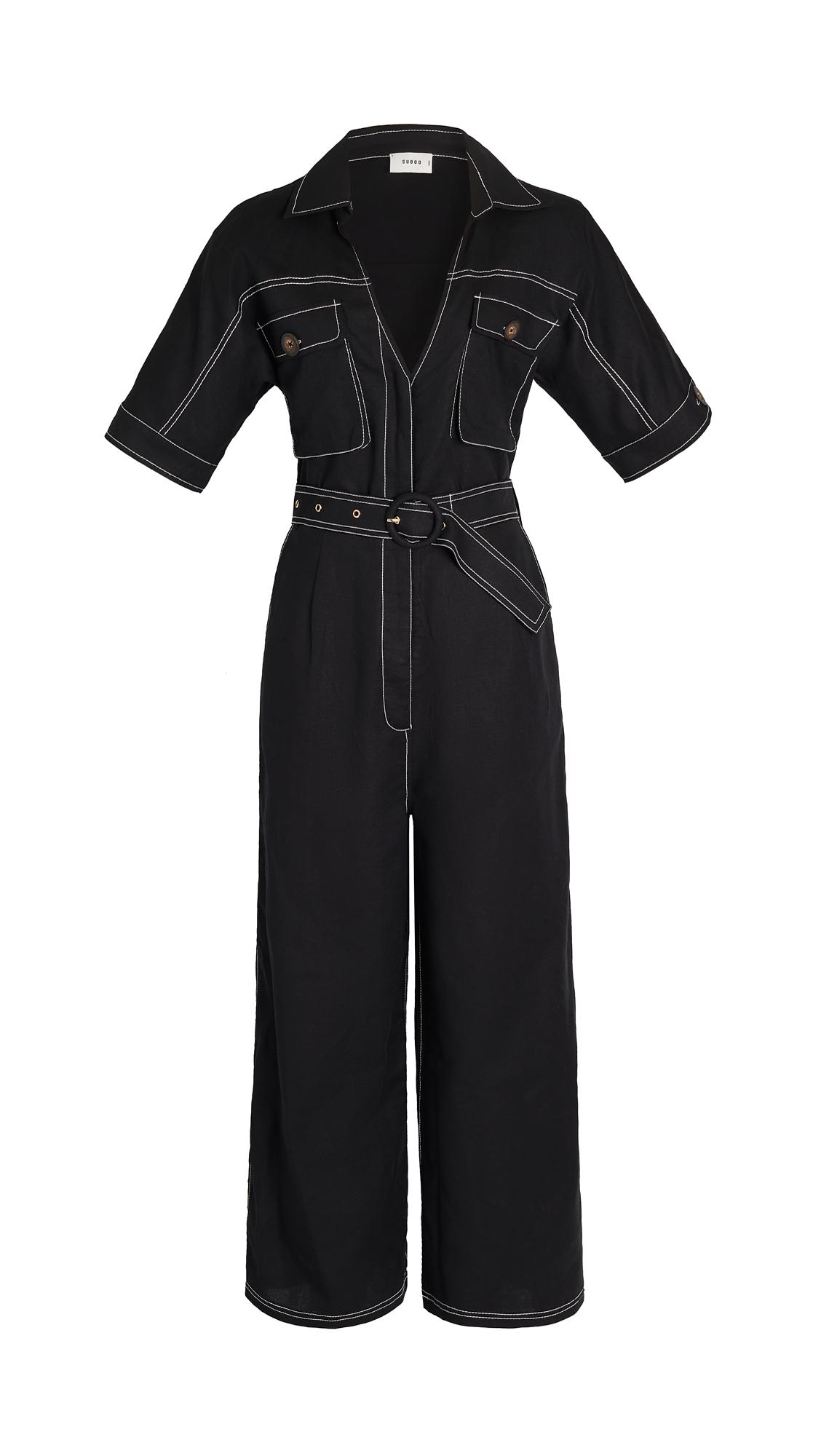 Suboo Naomi Black Linen Jumpsuit