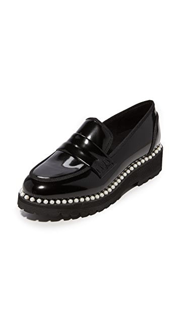 Suecomma Bonnie Faux Pearl Detailed Loafers