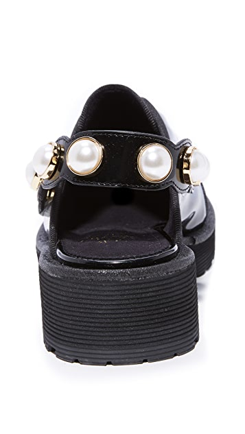 Suecomma Bonnie Jewel Strap Detailed Loafers