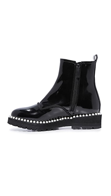 Suecomma Bonnie Pearl Detailed Ankle Boots