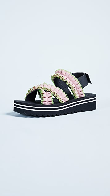 Suecomma Bonnie Ruffle Detailed Sandals