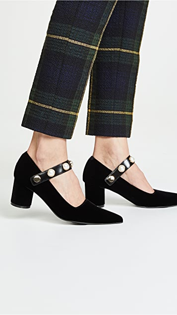 Suecomma Bonnie 珠宝固定带细节浅口鞋