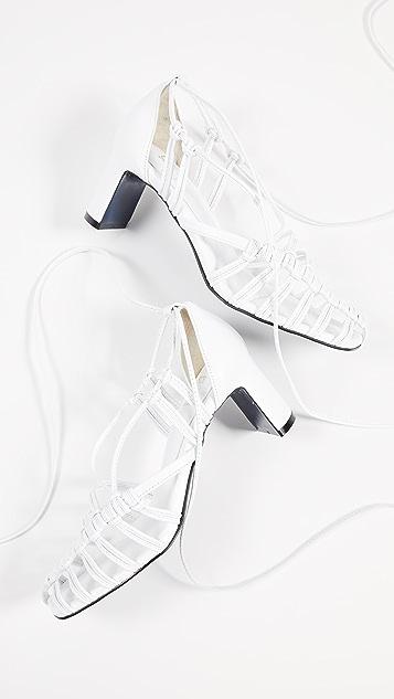 Suecomma Bonnie 编织鞋跟凉鞋