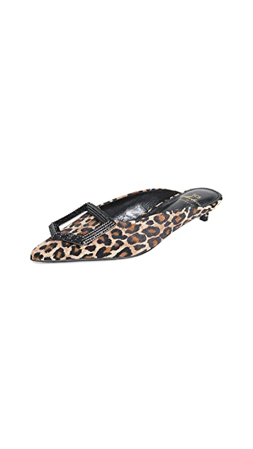 Suecomma Bonnie Leopard Jewel Ornament Mules