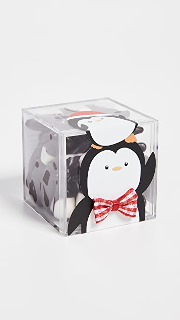 Sugarfina Party Penguins 3D Cube