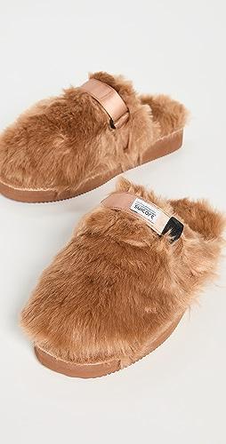 Suicoke - Faux Fur Slippers