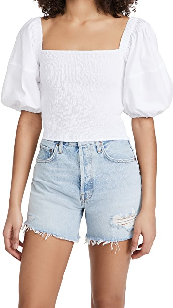 Sokie Collective Puff Sleeve Smocked Top