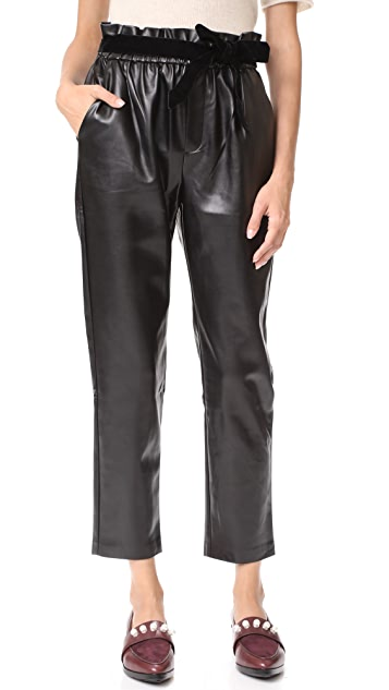 Suncoo Jil Faux Leather Joggers