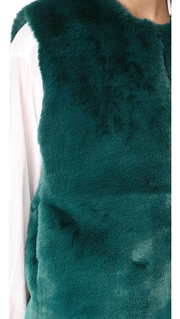 Suncoo Evita Faux Fur Vest