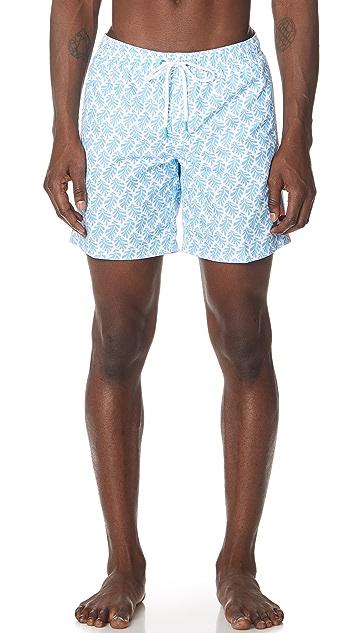 SUNDEK Leaves Print Board Shorts