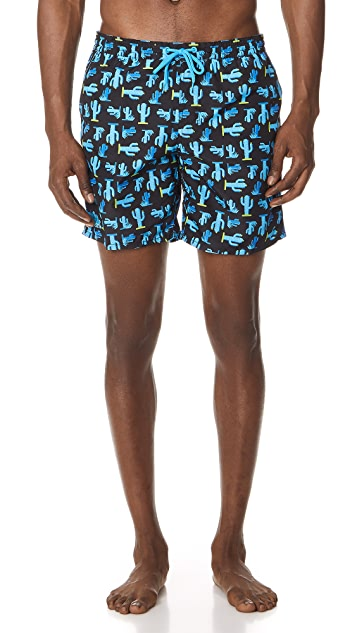 SUNDEK Cactus Swim Trunks