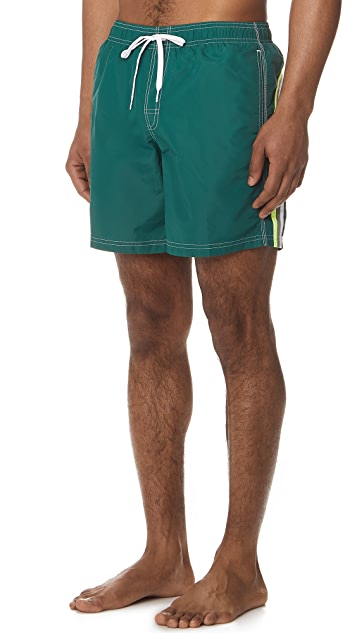 SUNDEK Long Board Shorts with Fixed Waist