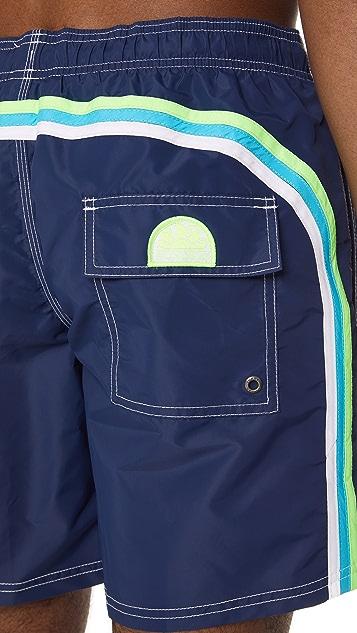 SUNDEK Long Board Shorts with Fixed Waist